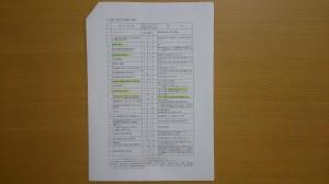建設工事の提出書類一覧表